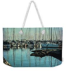 Marina - Digitally Textured Weekender Tote Bag by Marilyn Wilson