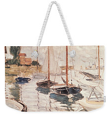 Sailboats On The Seine Weekender Tote Bag