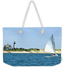 Sailing Around Barnstable Harbor Weekender Tote Bag