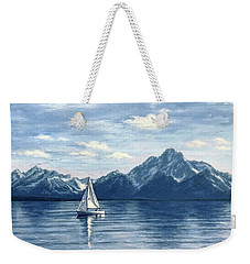 Sailing At The Grand Tetons Weekender Tote Bag