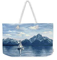 Sailing At The Grand Tetons Weekender Tote Bag
