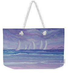 Sailing At Twilight Weekender Tote Bag by Holly Martinson