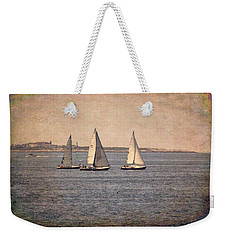 Weekender Tote Bag featuring the photograph Sailing  by Betty Pauwels