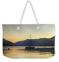Sailing Boat In The Sunset Weekender Tote Bag