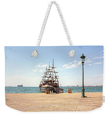 Sailing Boat With Veils In Horbour Weekender Tote Bag
