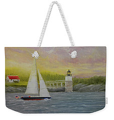 Sailing By Ram Island Weekender Tote Bag