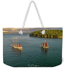 Sailing Frenchman Bay Weekender Tote Bag