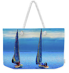 Sailing In The Blue Weekender Tote Bag