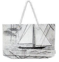 Sailing In The City Harbor Weekender Tote Bag by J R Seymour