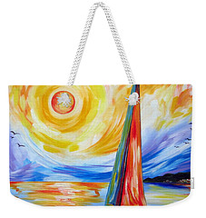 Sailing In The Hot Summer Sunset Weekender Tote Bag