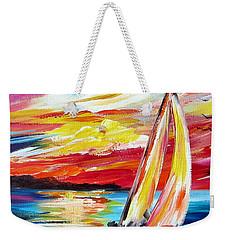 Sailing In The Indian Ocean Summer  Weekender Tote Bag