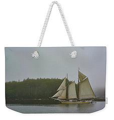 Sailing In The Mist Weekender Tote Bag