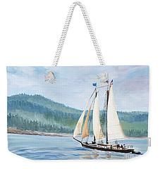 Sailing Into Castine Harbor Weekender Tote Bag