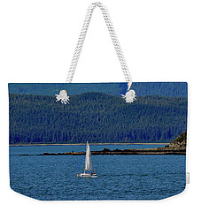 Weekender Tote Bag featuring the photograph Sailing Lynn Canal by Cathy Mahnke