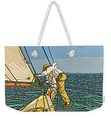 Sailing-not For Wimps-abstract Painting Weekender Tote Bag