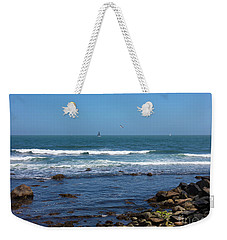 Sailing Off The Coast At Narragansett Pier Weekender Tote Bag