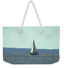 Sailing On Crystal Sound Weekender Tote Bag