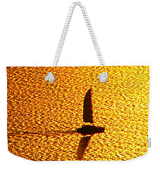 Weekender Tote Bag featuring the photograph Sailing On Gold by Ana Maria Edulescu