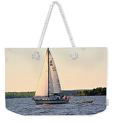 Weekender Tote Bag featuring the photograph Sailing On Lake Murray Sc by Lisa Wooten