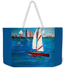 Sailing On The Charles Weekender Tote Bag