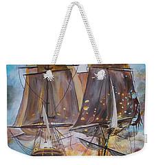 Sailing Ships At War. Weekender Tote Bag