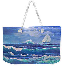 Sailing The Caribbean Weekender Tote Bag by Holly Martinson
