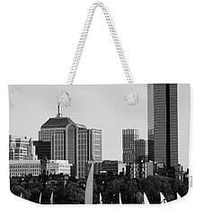 Sailing The Charles River Boston Ma Black And White Weekender Tote Bag