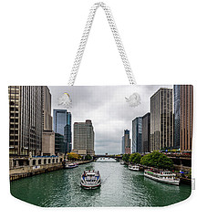 Sailing The Concrete Canyon Weekender Tote Bag by Randy Scherkenbach