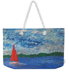 Sailing The Wind Weekender Tote Bag
