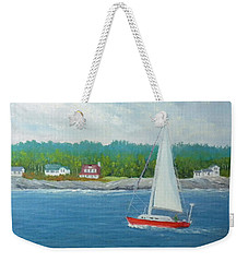 Sailing To New Harbor Weekender Tote Bag