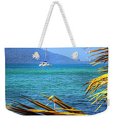 Weekender Tote Bag featuring the photograph Sailing Vacation by Alexey Stiop