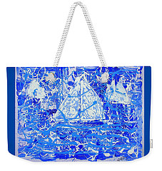 Sailing With Friends Weekender Tote Bag by J R Seymour