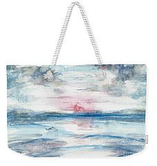Weekender Tote Bag featuring the painting Sailors Warning by Reed Novotny