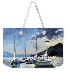 Sails 4 - Lake Como Weekender Tote Bag by Irek Szelag