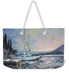 Sails 8 - Lake Como Varenna Weekender Tote Bag by Irek Szelag