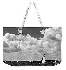 Sails And Clouds In Bw Weekender Tote Bag