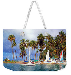 Sails And Palms Weekender Tote Bag by Sue Melvin