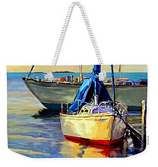 Sails At Rest Weekender Tote Bag by David  Van Hulst