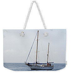 Weekender Tote Bag featuring the pyrography Sails Down by Shoal Hollingsworth