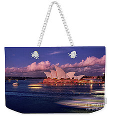 Weekender Tote Bag featuring the photograph Sails In The Clouds By Kaye Menner by Kaye Menner