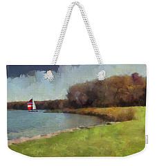 Sails On Lake Wampum Weekender Tote Bag