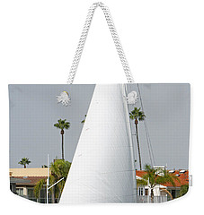 Weekender Tote Bag featuring the pyrography Sails Up by Shoal Hollingsworth