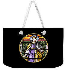 Weekender Tote Bag featuring the photograph Saint Adelaide Stained Glass Window In The Round by Rose Santuci-Sofranko