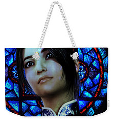 Weekender Tote Bag featuring the painting Saint Anna Wang 6 by Suzanne Silvir