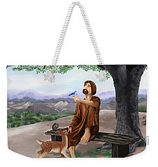 Weekender Tote Bag featuring the painting Saint Francis by Susan Kinney