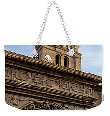 Weekender Tote Bag featuring the photograph Saint Hieronymus Facade Of Calahorra Cathedral by RicardMN Photography