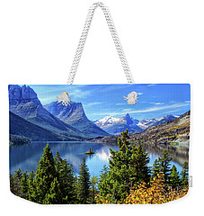 Saint Mary Lake In Glacier National Park Weekender Tote Bag