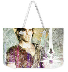 Weekender Tote Bag featuring the painting Saint  Michael 9 by Suzanne Silvir