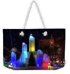 Saint Paul Winter Carnival Ice Palace 2018 Lighting Up The Town Weekender Tote Bag