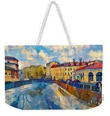 Saint Petersburg Winter Scape Weekender Tote Bag